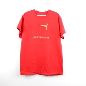 Vintage 90s New Orleans French Quarter T Shirt Red
